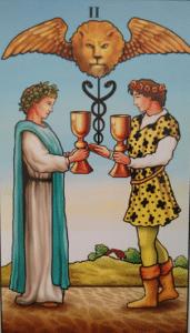 Curso de Jogo de Tarot - Dois de Copas