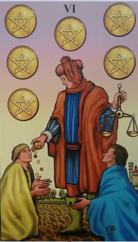 Consulta de Tarot Seis de Ouros
